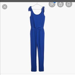Madewell summer tie shoulder jumpsuit sz medium